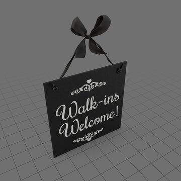 Welcome sign 3