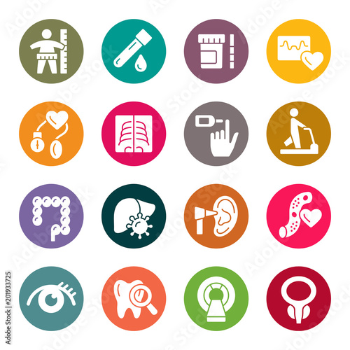 Health Check Up Icon Set Stock Image And Royalty Free Vector Files