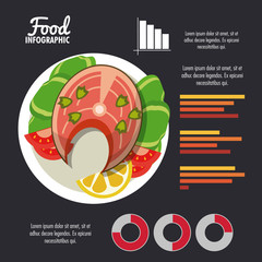 Healthy food infographic colorful design vector illustration graphic design