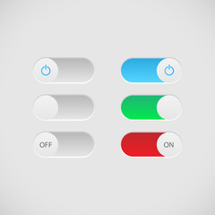 On Off Buttons Illustration