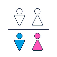 Toilet Sign Man and a Lady simple icon. Vector symbol