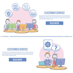 Customer service infographic vector illustration graphic design