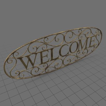 Welcome sign 5