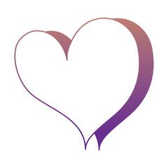 heart icon over white background, pop art style, vector illustration