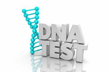 DNA Test Heredity Ancestry Genetic Word 3d Illustration