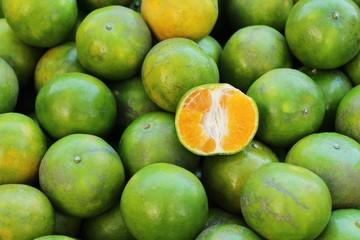 Ripe orange fruit is delicious at market