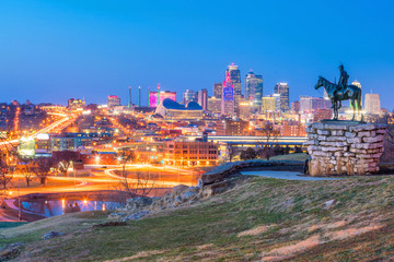 Wall Mural - The Scout overlooking downtown Kansas City