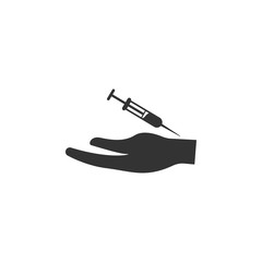 Syringe icon. Simple element illustration. Syringe symbol design from Pregnancy collection set. Can be used in web and mobile
