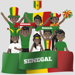 Set of Soccer / Football Supporter / Fans of Senegal National Team