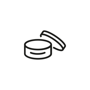 Cosmetic product box icon. Hand or body cream