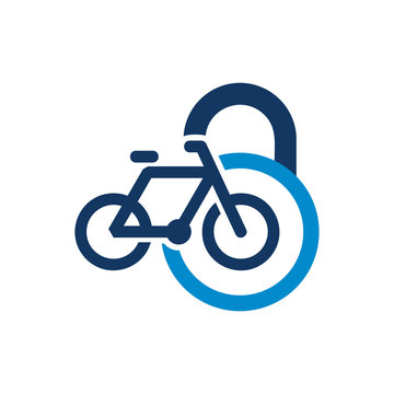 Bike Lock Logo Icon Design