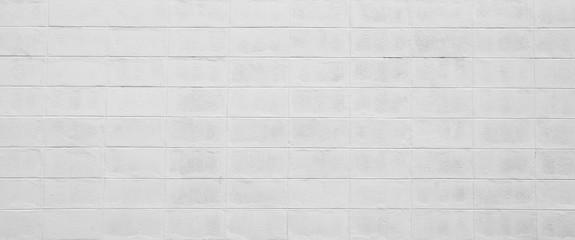 white cement cinder block wall texture - background
