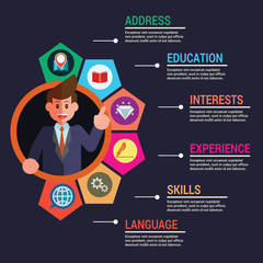 Infographic business template personal info
