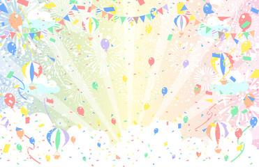 花火 紙吹雪 ガーランド 気球