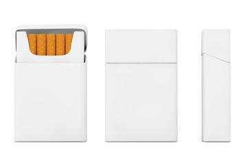 Mockup Blank Cigarettes Pack Set. 3d Rendering