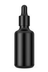 Black Empty Mockup Eye Dropper Bottle. 3d Rendering