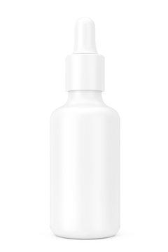 White Empty Mockup Eye Dropper Bottle. 3d Rendering