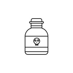 poison in the bottle icon. Element of crime and punishment for mobile concept and web apps icon. Thin line icon for website design and development, app development. Premium icon