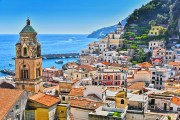 Amalfi in the province of Salerno, Campania, Italy