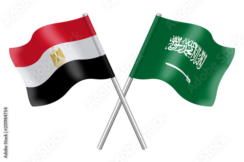 flags saudi arabia and egypt stock photo and royalty free images
