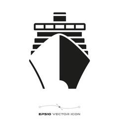 Cruise ship glyph icon