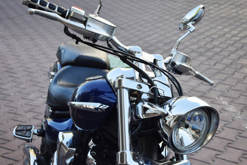 road motorcycle in black color