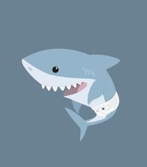 Cute cartoon baby shark