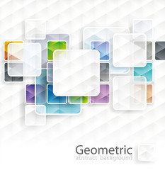 Abstract square cubes background with copy space.
