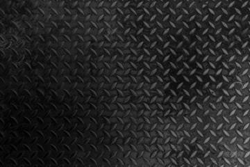 Black Metal Diamond Plate Texture Background.