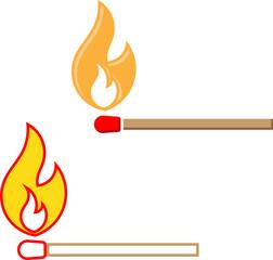 Lit Matchstick, Burning Matchstick