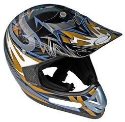 Papier Peint - casque moto à visière, fond blanc