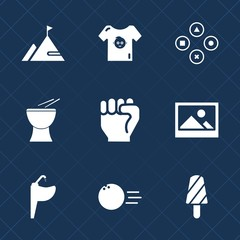Premium set with fill icons. Such as pin, ball, fun, food, boy, dessert, child, people, water, clothes, bowling, game, element, percussion, hand, sink, play, finger, frame, art, tap, rock, old, music