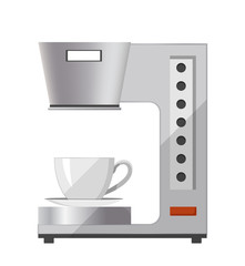 Coffee Machine with Cap Icon Vector Illustration