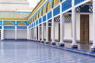 Interior of the Bahia Palace in Marrakech Morocco