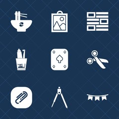 Premium set with fill icons. Such as camera, dental, communication, instrument, health, holiday, sign, picture, happy, cut, celebration, paperclip, cuisine, internet, tool, equipment, toothpaste, game