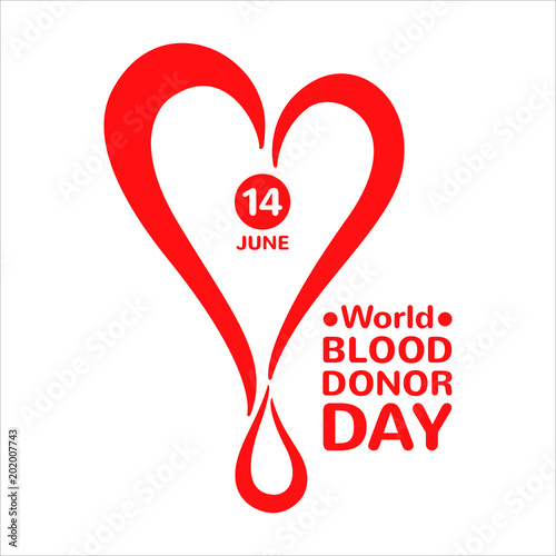 World Blood Donor Day Simple Illustration Icon Logo Stylized