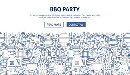 BBQ Party Banner Design