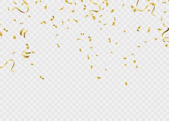 Celebration background template ribbon. Gold sparkles. Elegant style. Vector Illustration