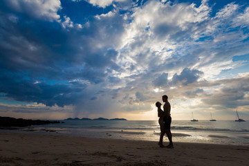 Couple on tropical Koh Mook