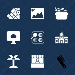 Premium set with fill icons. Such as atlas, oven, kitchen, architecture, geography, house, photo, europe, world, cloud, leaf, blank, hair, travel, city, stove, summer, white, old, market, care, gas