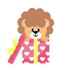 cartoon cute lion gift
