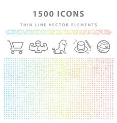 Set of 1500 Universal and Standard High Quality Color Icons on White Background ( Isolated Elements )
