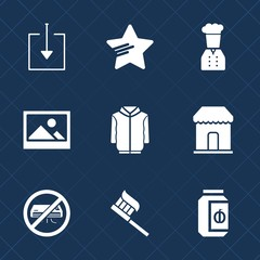 Premium set with fill icons. Such as shirt, sign, hygiene, jam, care, picture, arrow, jacket, frame, style, button, old, decoration, food, download, blank, shape, air, market, clothes, glass, clothing