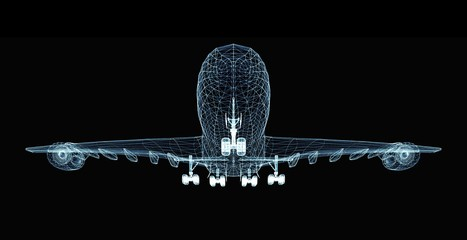 Abstract digital airplane