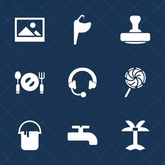 Premium set with fill icons. Such as equipment, audio, food, blank, chrome, sink, retro, candy, decoration, spoon, leaf, interior, tap, palm, sound, headphone, antique, post, art, liquid, summer, mark