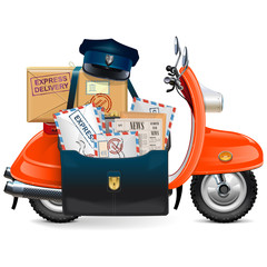 Vector Postal Scooter