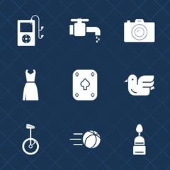 Premium set with fill icons. Such as chrome, photography, picture, nature, liquid, sport, lens, photographer, female, sky, bird, button, web, sweet, music, faucet, game, sink, photo, food, bike, play