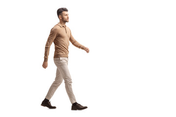 Young man walking