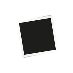 Square photo frame isolated