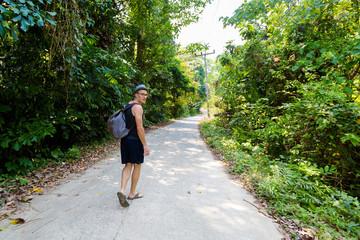 Tourist on Koh Mook island